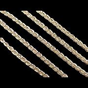 """SALE Vintage 10k Gold Link Chain ~ 16"""" ~ 2.1 Grams"""
