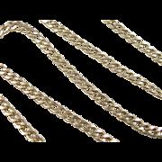 "SALE Vintage 14k Gold Men's Curb Link Chain ~ 21 3/4"""