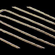 "SALE Vintage 14k Gold LONG Wheat Link Chain ~ 30"" ~ 7.2 Grams"