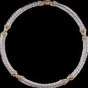 SALE Vintage 14k Gold Two-Tone Necklace