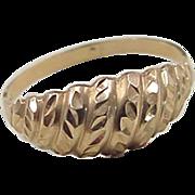 REDUCED Vintage 14k Gold Dome Ring