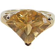 REDUCED Vintage 14k Gold Citrine Ring