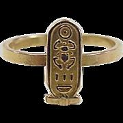 REDUCED Vintage 20k Gold Egyptian Scarab Ring