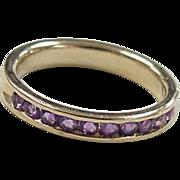 REDUCED Vintage 14k Gold Amethyst Band Ring