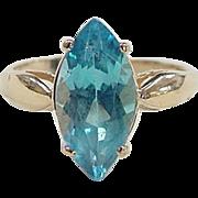 REDUCED Vintage 14k Gold Blue Topaz Ring