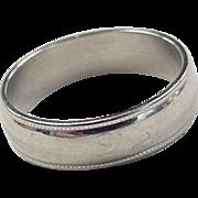 REDUCED Vintage 14k White Gold Milgrain Band Ring