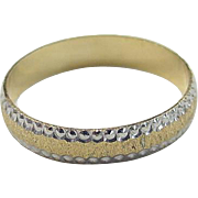 REDUCED Vintage 14k Gold Two-Tone Band Ring