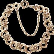 """SALE Vintage 14k Gold Link Bracelet 7 5/8"""" ~ 27.9 Grams"""
