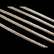 """SALE Vintage 14k Gold LONG Box Chain ~ 24"""" ~ 15.6 Grams"""
