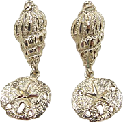 REDUCED Vintage 14k Gold Nautical Earrings