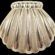 REDUCED Vintage 14k Gold Shell Pendant