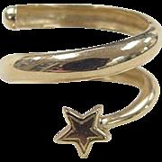 REDUCED Vintage 14k Gold Star Ring