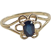 REDUCED Vintage 14k Gold Sapphire Ring
