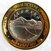 Limited Edition Las Vegas, NV Gaming Token 0.999 Silver Mandalay Bay Casino - Moorea Beach Clu