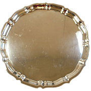 """Estate Sterling Silver 12"""" Serving Tray - Gorham """"Chippendale"""" Pattern"""