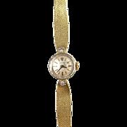 SOLD Vintage ROLEX 14k Gold & Diamond Elegant Ladies Wristwatch