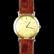 SOLD Vintage PATEK PHILIPPE Caltrava 18J ~ Ref.# 3520 Scarce Gents 18K Gold Wristwatch