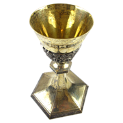 SOLD Antique Schofield Co.  Gold Washed Sterling Silver Floral Chalice
