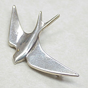 RARE Early James Avery Swallow Bird Brooch / Pin