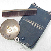 Sterling Silver Mirror & Comb Set, Travel Set