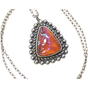Native American Dragons Breath Opal Necklace