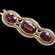 Victorian Garnet Pin / Brooch 14k Gold