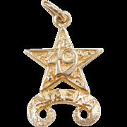 Vintage 14k Gold ALASKA Charm 49th State, USA