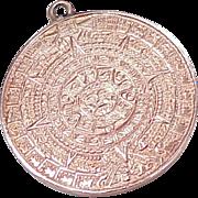 Edwardian 10k Rose Gold MAYAN Calendar Charm / Pendant