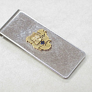 Sterling Money Clip North American Indian Motif