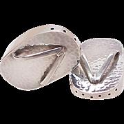 Figural Salt & Pepper Sterling Silver ~ Japanese Okobo