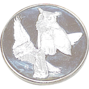 REDUCED Sterling Silver Round 67.0 Grams ~ Great Horned Owl