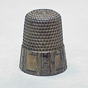Antique Sterling Silver Thimble size 12