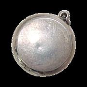 Sterling Silver Miniature Snuff / Pill Box Pendant