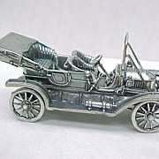 Vintage Sterling Silver Miniature 1911 Stanley Steamer Automobile