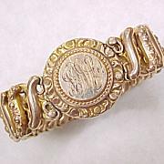 Vintage Sweetheart Expansion Bracelet circa 1930-40's