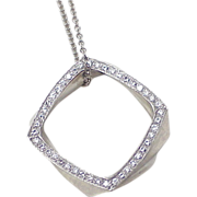 Diamond Necklace Tiffany & Co, Frank Gehry Designer 18k White Gold