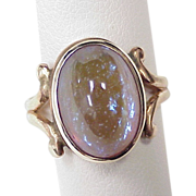 Victorian Dragons Breath Opal Ring 10k Rose Gold