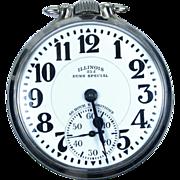 SOLD Illinois 23j Bunn Special Elinvar 163 Pocket Watch