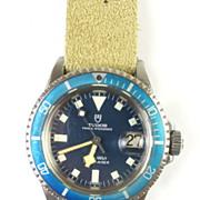 SOLD Vintage Rolex Tudor Oyster Prince Blue/Blue Stainless Submariner