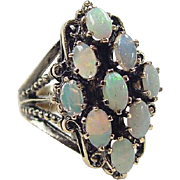 Victorian Revival 14k Gold Opal Ring