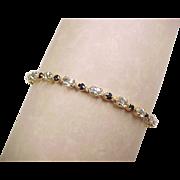 SALE Vintage 14k Gold Aquamarine and Sapphire Bracelet