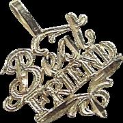Vintage 14k Gold Best Friend Charm