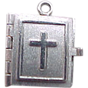 Vintage Opening Bible Charm Sterling Silver by Wells