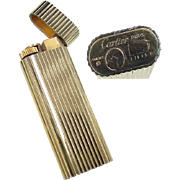 Vintage 18k Gold Plated Cartier Lighter