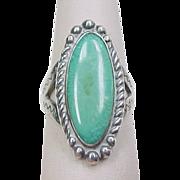Vintage Sterling Silver Chrysoprase Ring
