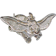Sterling Silver Dumbo Pin / Brooch or Pendant ~ DLC Official Licensed Disney