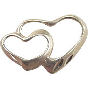 Vintage 14k Gold Double Heart Charm