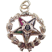 Vintage 10k Gold Masonic Eastern Star Charm