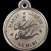Vintage 10k Gold Gemini Charm