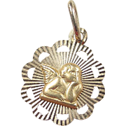 Vintage 14k Gold Angel Charm